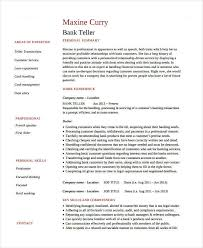 Resumes For Banking Jobs Banking Resume Samples 45 Free Word Pdf Documents Download
