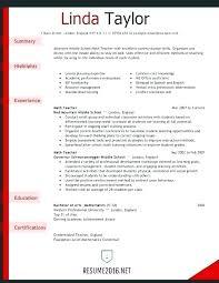English Teacher Resume Resume Format Curriculum Vitae Sample