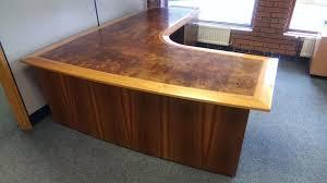 large corner black glass computer desk