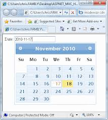 Form input type date