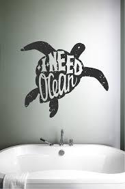 ocean sea turtle silhouette i need ocean vinyl wall words decal sticker graphic