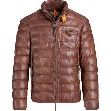 parajumpers ernie leather jacket men s cognac