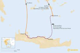 chania to santorini best routes