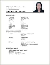 Resume Format 2017 Unique Resume 60 Format 60 Fancy Example Resume Format Philippines