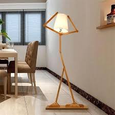 floor lamps wood creative wooden log fabric stand light intended for plan 9 lamp with 3
