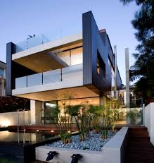 Architecture:Excelent Architectural House Design With Wooden Facade  Exsposed And Minimalist On Shape Building Wonderful