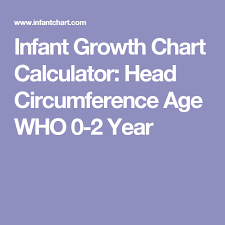 Baby Head Circumference Growth Chart Infant Growth Chart Calculator Head Circumference Age Who 0