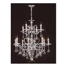 zinta large 12 light chrome and egyptian lead crystal chandelier