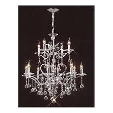 zinta large 12 light chrome and egyptian lead crystal chandelier