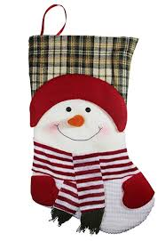 snowman christmas stockings. Interesting Snowman 19u0026quot Long 3D Happy Plush Snowman Christmas Stockings In Y