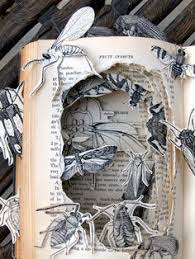 book sculpture by kelly cbell what else could live in an old book maybe a new art lesson