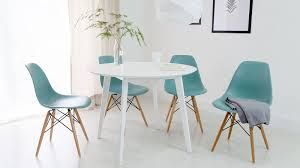 image of round white dining table 4 seater