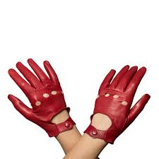 women s driving leather gloves red