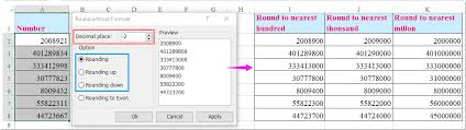 Excel Round Formulas How To Round Numbers To Nearest Hundred Thousand Million