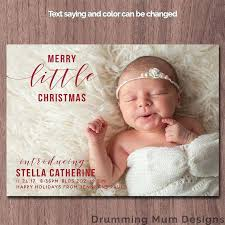 Christmas Birth Announcement Ideas Christmas Card Birth Announcement Not So Blue Landscape 5 X 7 Flat