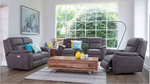 fabric recliner sofa. Diamond Head 3 Seater Powered Fabric Recliner Sofa