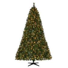 7 5 ft pre lit led alexander pine artificial tree with 550 warm white