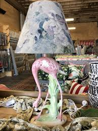 Ceramic Flamingo Table Lamp Base Little And Fox Design Fabric