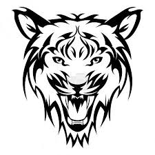 Vektorová Grafika Tygr Tetování Vektorové Tygří Hlavu Jako