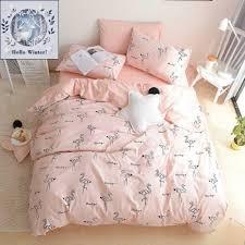 kids bedding sets. BuLuTu 100% Cotton Flamingo Girls Bedding Duvet Cover Set Twin Pink Cute Kids Sets