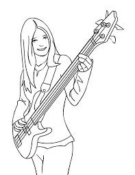 Small Picture Bass Coloring Page Handipoints