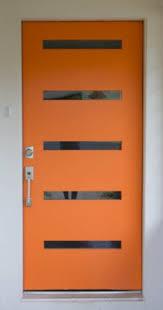 modern front door orange. Modern-front-door-orange-design-decorating-4 Modern Front Door Orange T