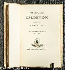 on modern gardening an essay by horace walpole ed horace on modern gardening an essay by horace walpole ed horace walpole