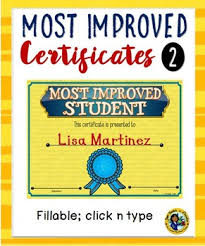 Certificates Most Improved Awards 2