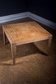 bamboo labyrinth table solid elm coffee