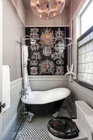 Bathrooms : Tiny Bathroom With Small Clawfoot Black Bathtub Also ...