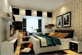 Modern Bedroom Wallpaper Modern Bedroom Wallpaper And Curtains 3d House