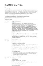 Corporate Consultant Resume samples