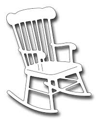 rocking chair silhouette. Frantic Stamper Precision Die - Rocking Chair Silhouette C