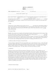 Agreement Form Doc Free Copy Rental Lease Agreement Free Rental Lease Agreement Forms 7