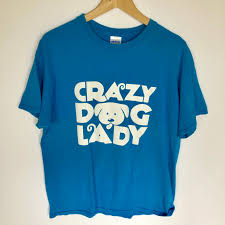 Vintage Unisex Crazy Dog Lady Shirt Size L Tiny Depop