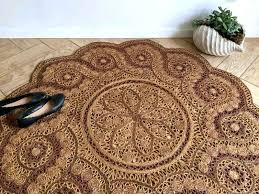 jute outdoor rug round outdoor rug inspirational round ornate jute rug bohemian woven for round sisal