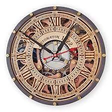 transpa steampunk wall clock