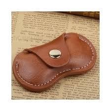 fidget spinner pu leather storage bag organizer edc fidget spinner pouch holder brown 1