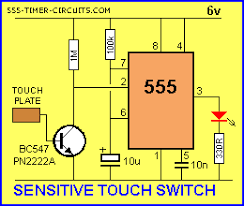 touch switch and touch on off circuit