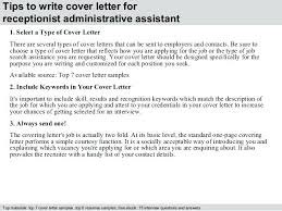 Cover Letter For Receptionist Examples Resume Sample Web