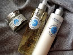 l occitane shea er forting skincare collection cleansing milk cleansing oil and light