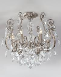 mini chandelier flush mount light fixture