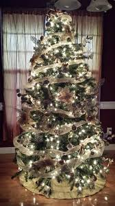 Christmas Tree Decoration Idea With White, Cream & Silver On Green Tree |  Country & Victorian Times