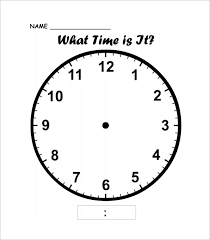 6 7 Clock Templates Leterformat