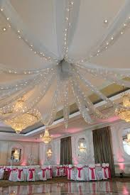 ceiling decor ideas. silver organza draping with lights ceiling decor formal 2015 decorations ideas h