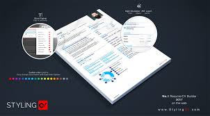 Pdf Resume Builder Resume Builder Make Your Cv Stand Out Stylingcv 2019