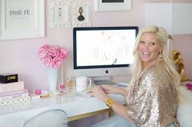 pink home office. CHIC PINK \u0026 GOLD HOME OFFICE TOUR WITH CAROLINE BIRGMANN Pink Home Office T