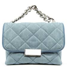 Stella McCartney Mini Beckett Quilted Denim Crossbody Bag &  Adamdwight.com