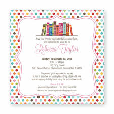 Book Theme Baby Shower DecorationsLibrary Themed Baby Shower Invitations