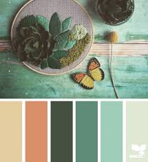 ... Botanical Hues Terracotta Teal And Design Seeds Terra Cotta Complementary  Colors D F E Fc Aee ...